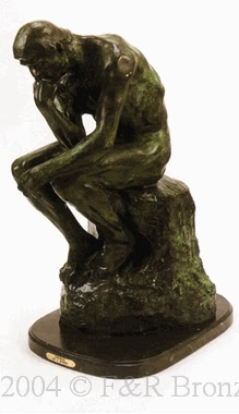 Thinker bronze statue by Auguste Rodin