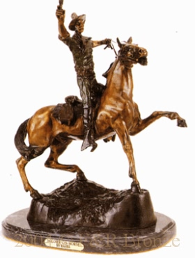 Soldier On Horse bronze by Carl Kauba