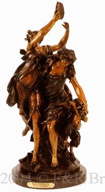 Bacchanalia bronze sculpture by Clodion