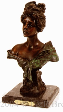 Carmela bronze sculpture by Emmanuel Villanis