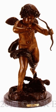 Cupid bronze by Houdon