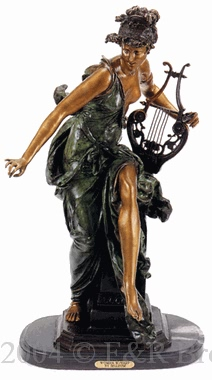 Melodie bronze statue by Belleuse