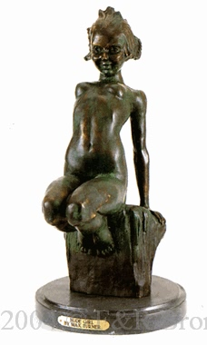 Nude Girl bronze by Max Turner