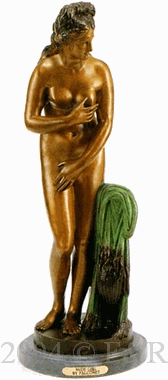 Nude Girl bronze statue by Falconet