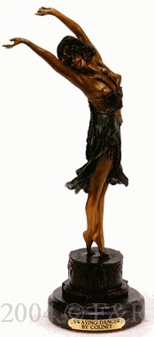 Swaying Dancer bronze sculpture by Colinet
