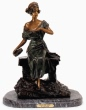 Gitana the Gypsy bronze statue by Villanis