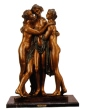 Three Graces bronze statue by Terrione