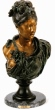 Wanda Bust bronze statue by Belleuse