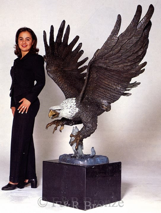 Monumental Eagle Bronze by Nardini