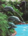Monumenta bronze fountain three dolphins