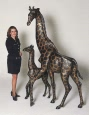 Giraffe bronze reproduction