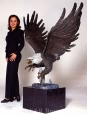 Monumental Eagle bronze