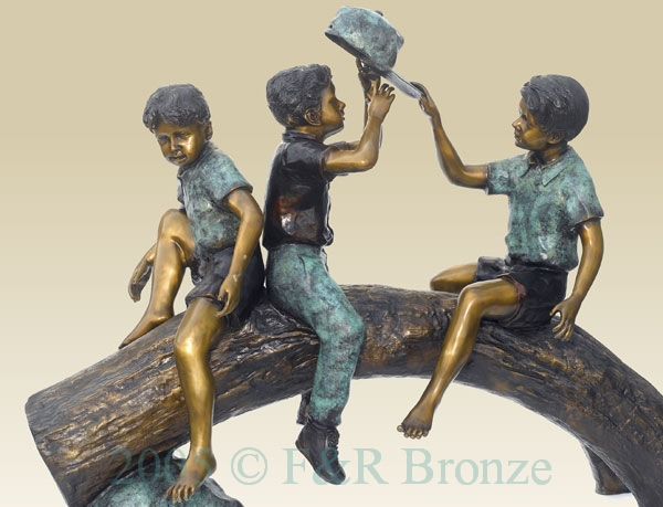 Funt Time bronze sculpture