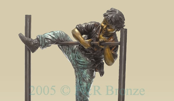 Gymnastic Boys bronze reproduction