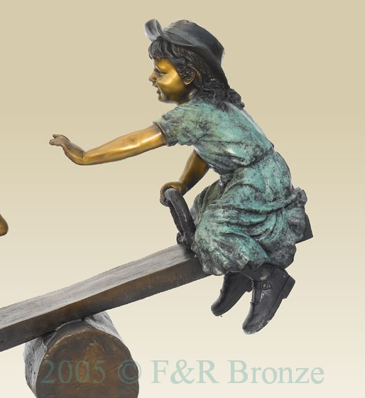Teeter Totter bronze sculpture