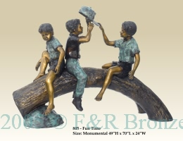 Fun Time bronze sculpture