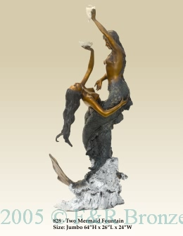 Two Mermaids bronze