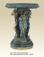 Girls with Vase bronze statue fountain