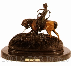 Hunt Scene bronze by Pierre Jules Mene