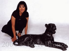 Lay Down Panther bronze by Mene