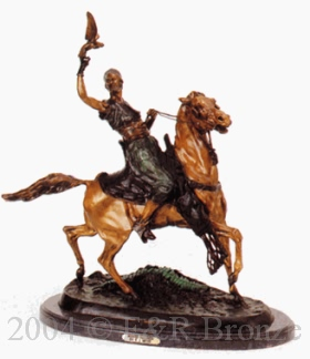 Mounted Falconeer bronze by Pierre Jules Mene