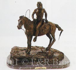 Vigil bronze inspired by Frederic Remington