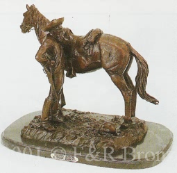 Trooper Thanatopis bronze by Remington