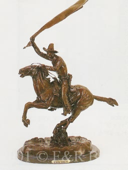 Bronco Saddle bronze inspired by Remington