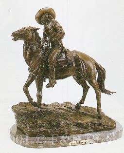 Scout bronze inspired by Frederic Remington