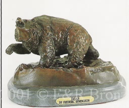 Bear bronze inspired by Frederic Remington