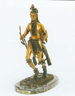 Indian Dancer bronze inspired by Frederic Remington