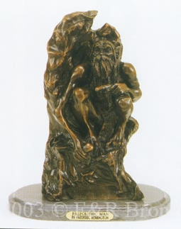 Paleolithic Man bronze by Frederic Remington