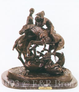 Polo bronze by Frederic Remington