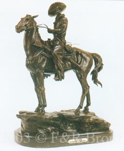 Puncher bronze inspired by Frederic Remington