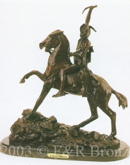 Scalp bronze by Frederic Remington