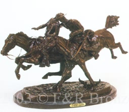 Wounded Bunkie Bronze by Frederic Remington