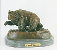 Bear Bronze Sculpture inspired by Frederic Remington