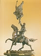 Buffalo Signal Bronze Statue by Frederic Remington