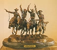Coming Thru the Rye Bronze Statue by Frederic Remington