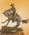 Cowboy Bronze Statue by Frederic Remington