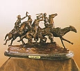 Old Dragoons Bronze Statue by Frederic Remington