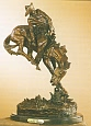 Outlaw Bronze Statue by Frederic Remington