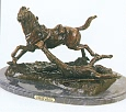 Ambushed Picket Bronze Sculpture inspired by Frederic Remington