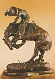 Rattlesnake Bronze Statue by Frederic Remington