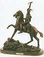 Scalp Bronze Statue by Frederic Remington