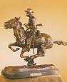 Trooper of the Plains Bronze Statue by Frederic Remington