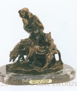 Spirit of Winter Bronze by Charles Russell