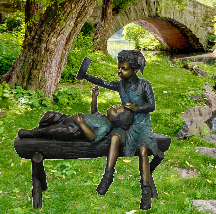 children bronze sculpture