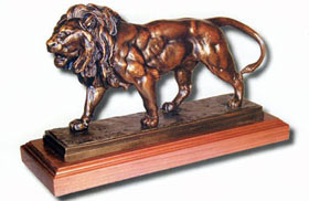 Barye Lion Bronze by Wally Shoop