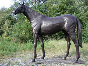 Thoroughbred Horse Bronze